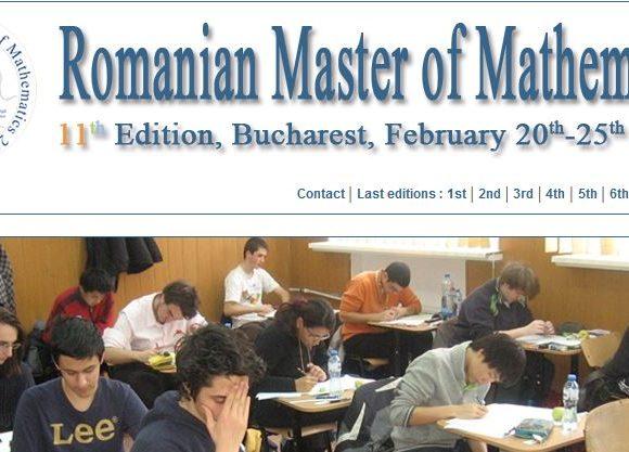 Au început înscrierile pentru Romanian Masters of Mathematics 2019