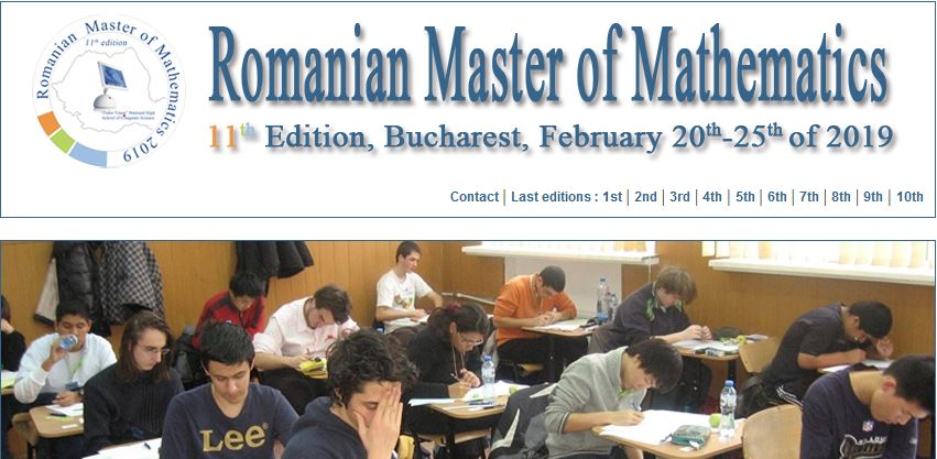 Romanian Master of Mathematics 2019