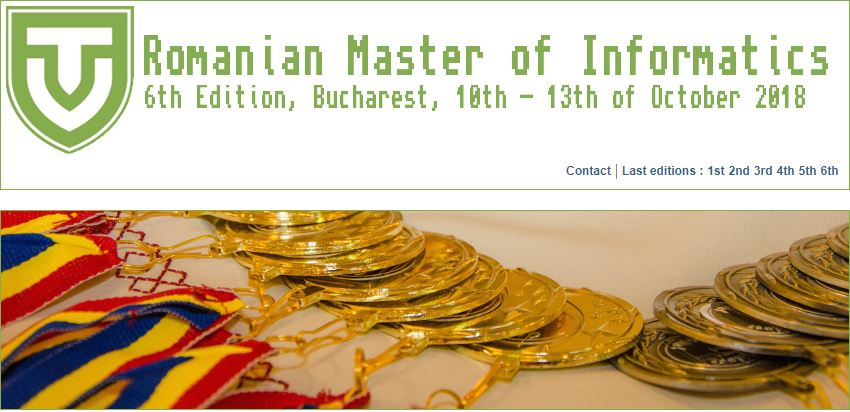 Romanian Master of Informatics 2018