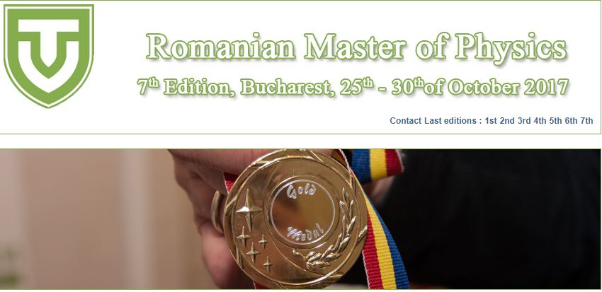 Romanian Master of Physics 2017