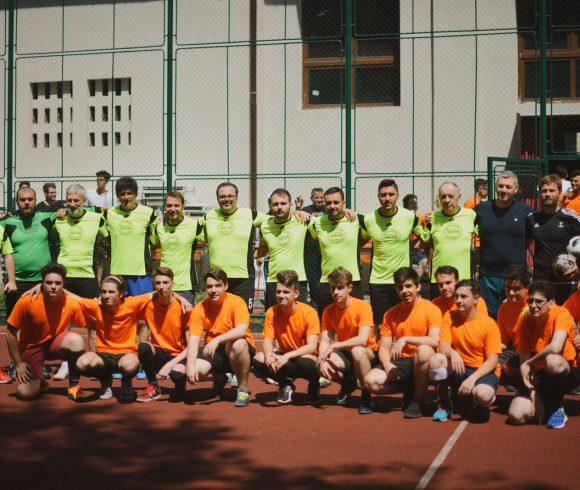 Meciul de fotbal profesori-elevi 2018