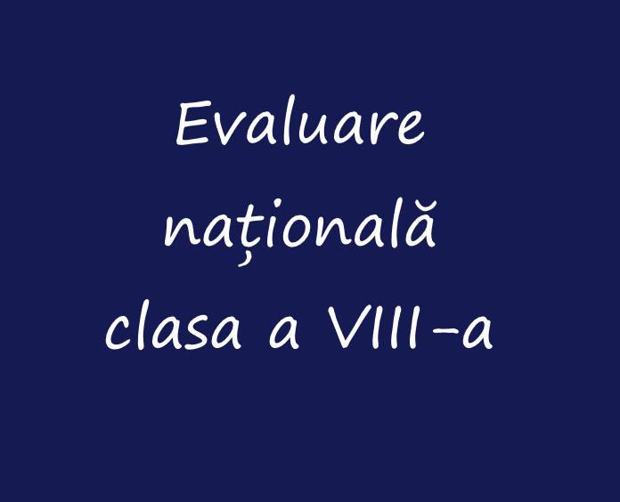Evaluare Națională 2019