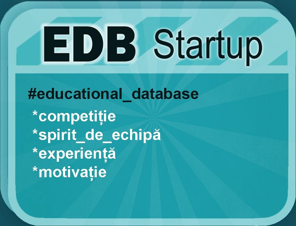 """Concursul """"EDB StartUP"""""""