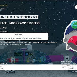 O echipă de elevi de la a 9-a D distinsă cu Premiul al III-lea la Moon Camp (ESA)
